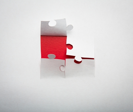 Paper cut of  Puzzle background with copy space for text or design photo