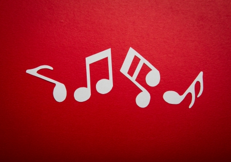 Paper  cut of music note with copy space for text or design Stock Photo - 16833315