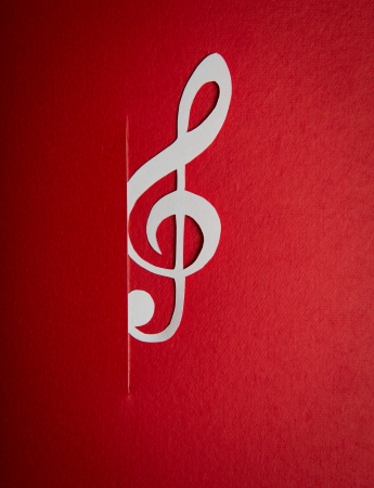 Paper  cut of music note with copy space for text or design Stock Photo - 16833253