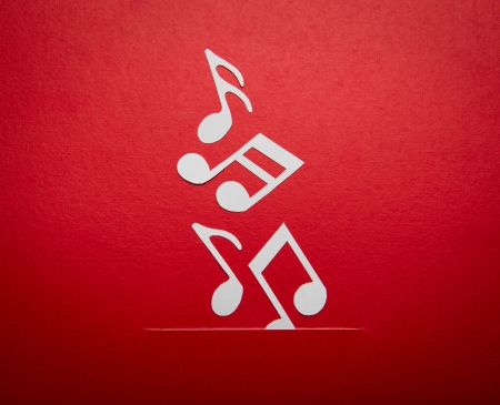 Paper  cut of music note with copy space for text or design Stock Photo - 16833282