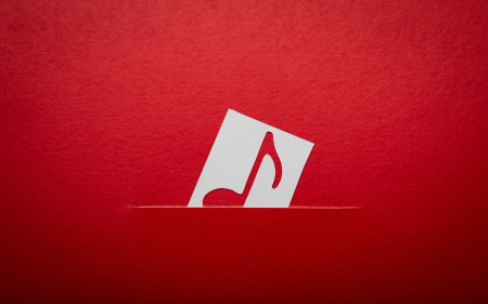 Paper  cut of music note with copy space for text or design Stock Photo - 16833285