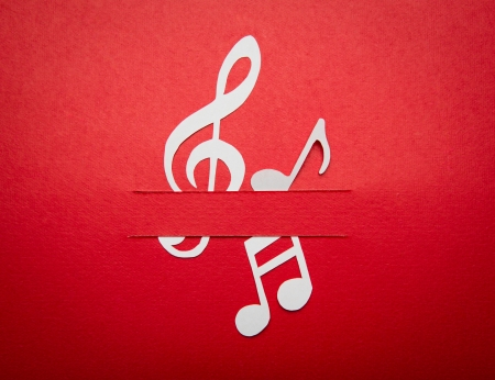 Paper  cut of music note with copy space for text or design photo
