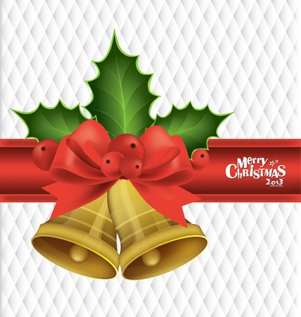 Christmas background with Christmas bells, vector illustration. Stock Vector - 16926142