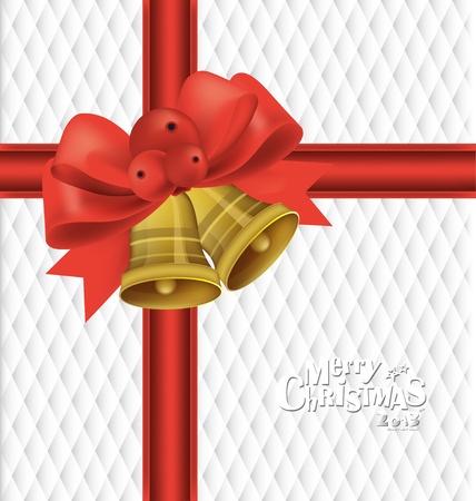 campanas de navidad: De fondo de Navidad con campanas de Navidad, ilustración vectorial.