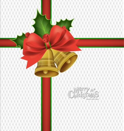 Christmas background with Christmas bells, vector illustration. Vector