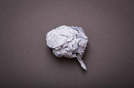 Medical background, Crumpled paper brain shape with copy space for text or design photo