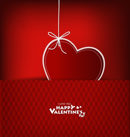 Valentine's day card with Heart Paper. Vector illustration. Vector