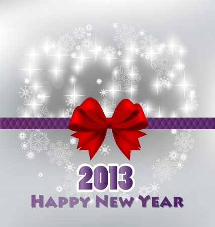 Happy new year 2013 with starry firework.  Vector