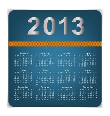 Simple 2013 year calendar, vector illustration. Stock Vector - 17101757