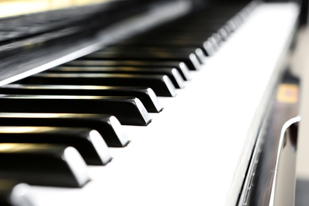Close up of piano keys photo