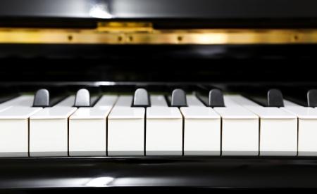 hymnal: Close up of piano keys Stock Photo