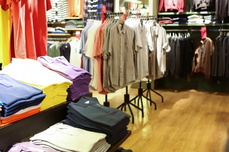 retail place: Interior of clothing store