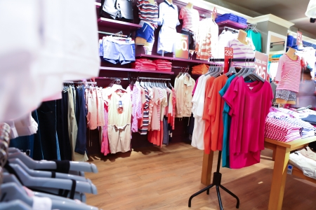 Interior of clothing store photo