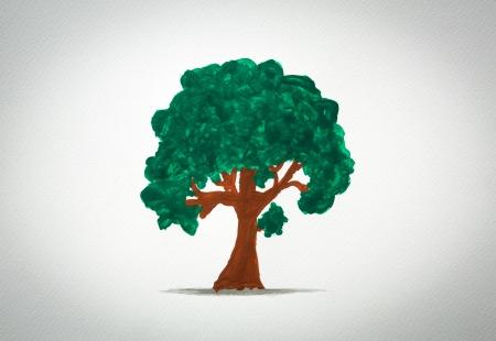 Tree watercolor