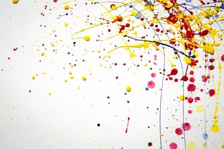 추상 다채로운 스플래시 수채화 배경