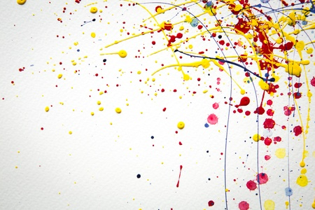 Abstract colorful  Splash watercolor background Stock Photo