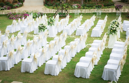 Mariage Idyllique Dans Le Jardin Et Le Ciel Bleu Banque D\'Images ...