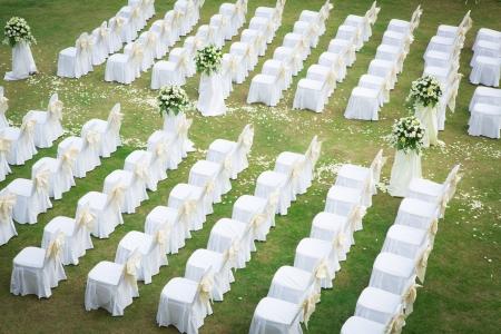 garden parties: Wedding ceremony in a beautiful garden
