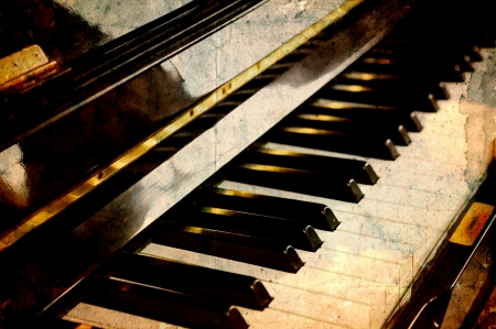 Vintage piano keys photo