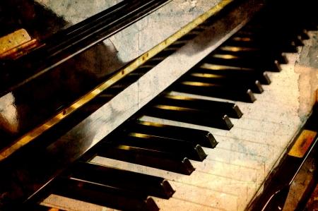 piano background: Vintage piano keys