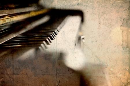 grunge edge: Vintage piano keys