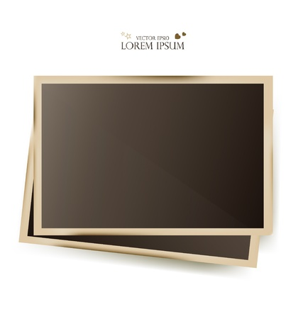 picture card: Photo frames- vector illustration.