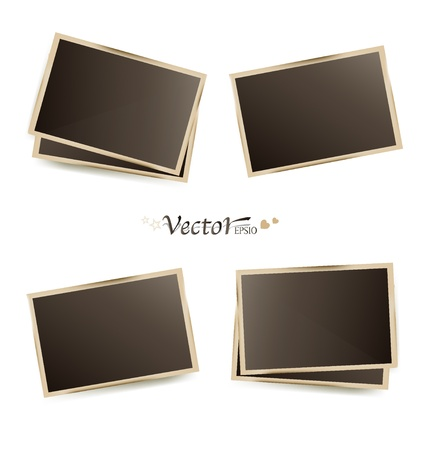 black picture frame: Photo frames Illustration