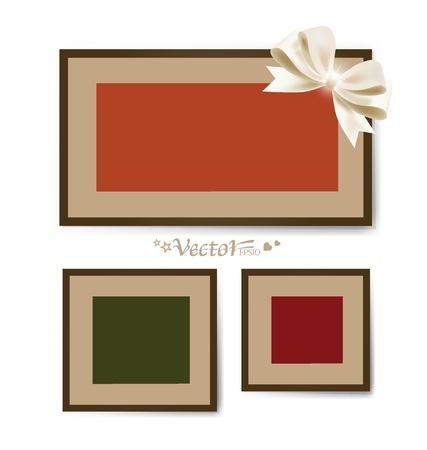 White modern frames on the wall. Stock Vector - 17444361