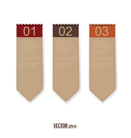 Set of labels with place for text. Stock Vector - 17444377