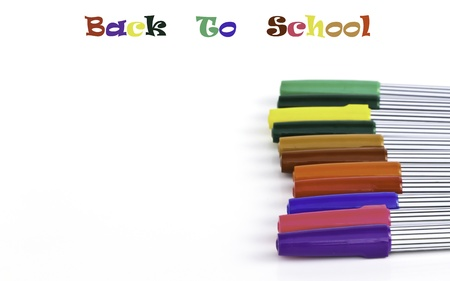 Set of magic color pens of different colors and text- back to school Stock Photo - 17483786