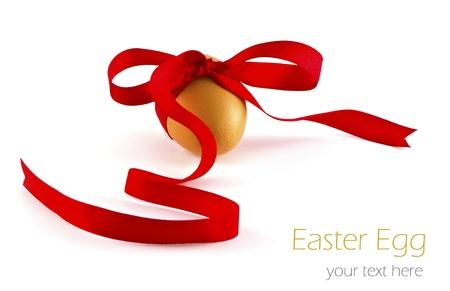 Egg with ribbon isolated on white background. Stock Photo - 17535387