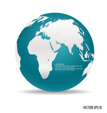 wire globe: Modern blue globe. Vector illustration.