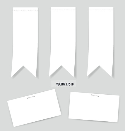 Set of labels with place for text. Vector illustration. Vector