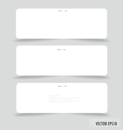 Collection of various white note papers, ready for your message. Vector illustration. Stock Vector - 17716659