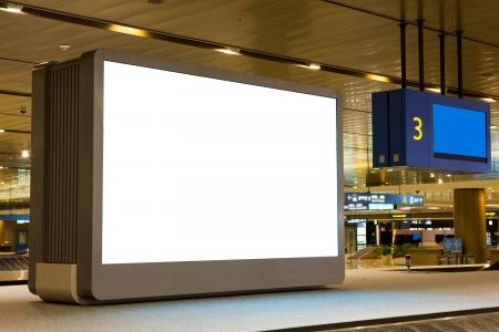 blank billboard: Blank Billboard in Flughafen