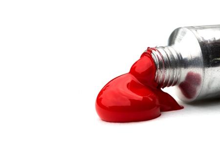 red tube: Vernici acriliche rosse in tubi