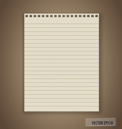 Paper, ready for your text. Vector illustration. Stock Vector - 18378858