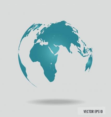 globe map: Modern globe.