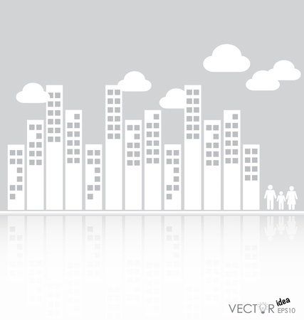 compiled: A set of elements design for advertising real estate services. Vector illustration.
