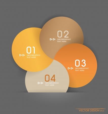 numbering: Modern design layout  modern design template, illustration.