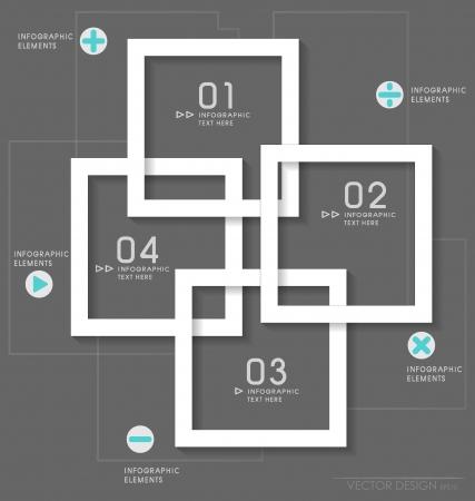 numbering: Modern design layout  modern design template, vector illustration.