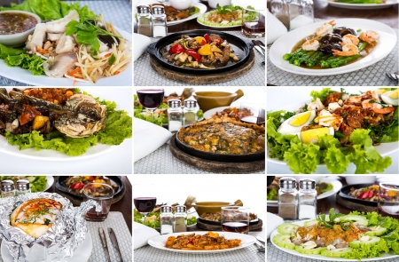 Collection of asian food photo