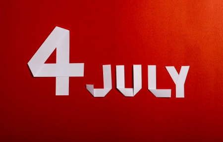 True paper cut of American Independence Day 4th July photo