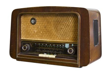 radio frequency: Vintage fashioned radio