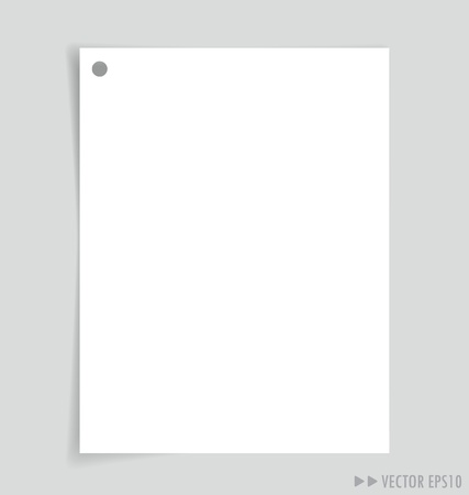 Empty white papers, ready for your message.  photo