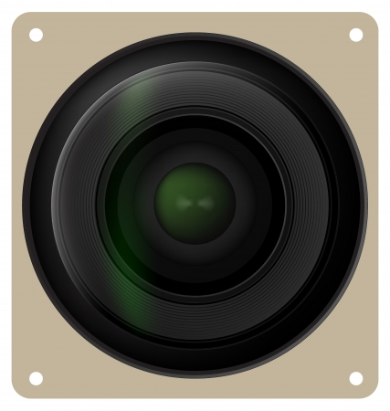 snaps: Camera lens shutter Illustration