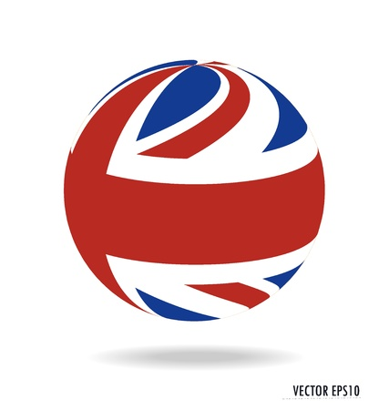 British Flag illustration. Çizim