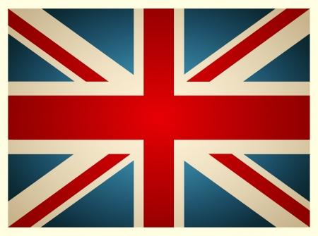 grunge union jack: Vintage British Flag Illustration
