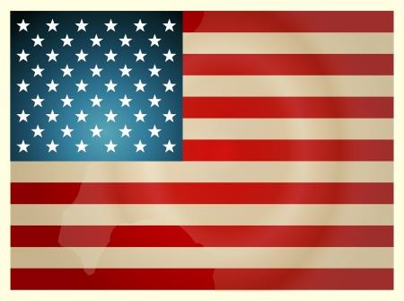 Vintage drapeau am?cain