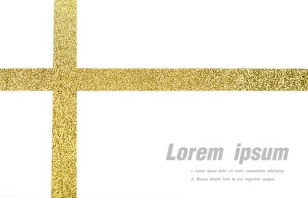 Shiny gold ribbon on white background with copy space. Stock Photo - 21022687